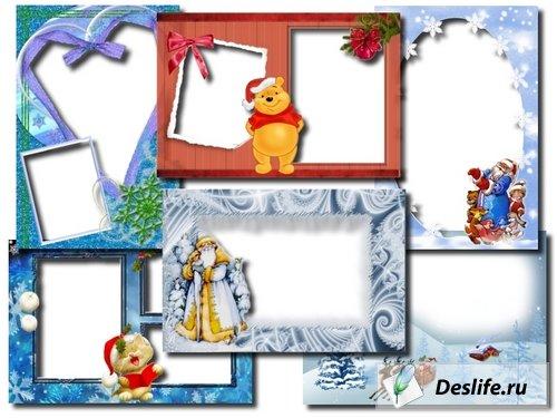 Новогодние рамочки для фотошопа, часть 3