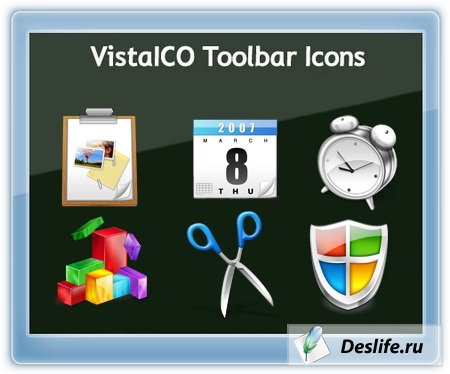 VistaICO Toolbar Icons (Иконки Vista панель инструментов)
