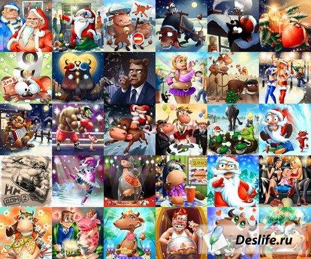 Веселые картинки к Новому году