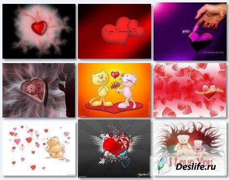 Подборка красивых обоев и открыток ко Дню Святого Валентина