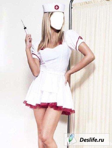 Медсестра - костюм для Photoshop