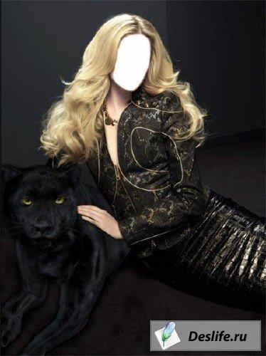 Черная пантера - шаблон для Photoshop