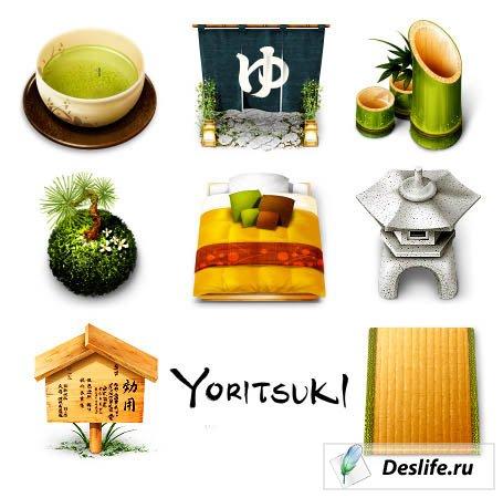 Иконки в японском стиле - Yoritsuki-iCons