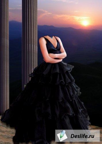 Дама в чёрном платье