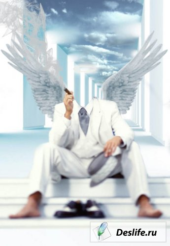 Angel Man - костюм для Photoshop