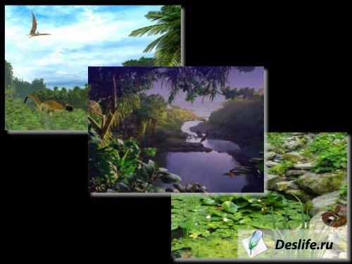 Анимированные обои: Долина, Пруд, Лагуна