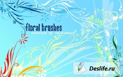 Кисти - Floral Brushes by Hawksmont