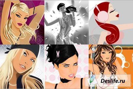 анимированные аватарки девушки: