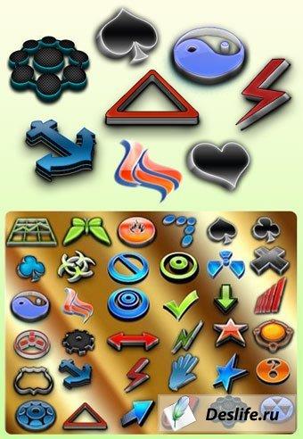 Пакет творческих логотипов