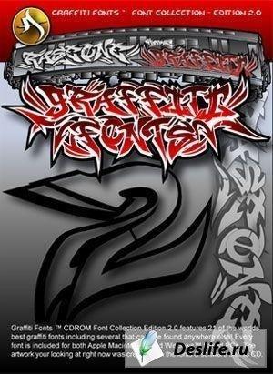 Шрифты в стиле графити