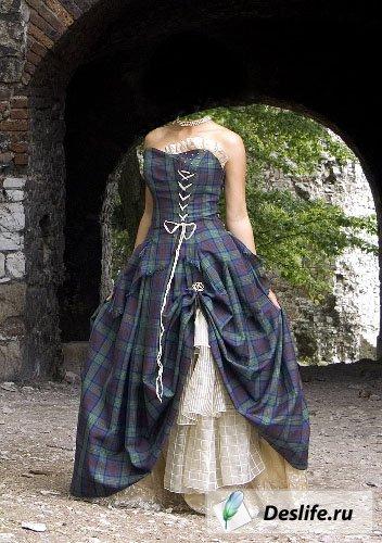 Женское платье в клеточку - Костюм