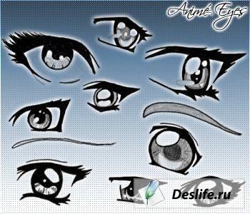 Глаза в стиле Аниме - Кисти