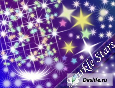 Sparkle Stars Brushes for Photoshop - Кисти