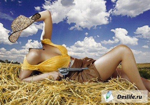 Девушка-ковбой - Костюм PSD
