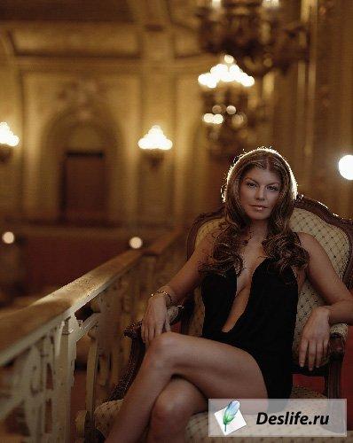 Красивая девушка - Костюм PSD