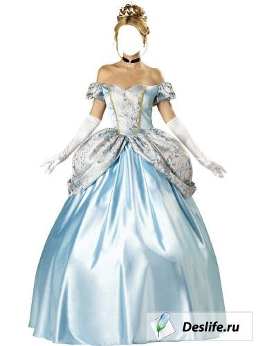 Голубое платье - Костюм PSD