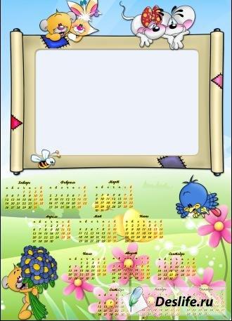 Милый календарик на 2009 год