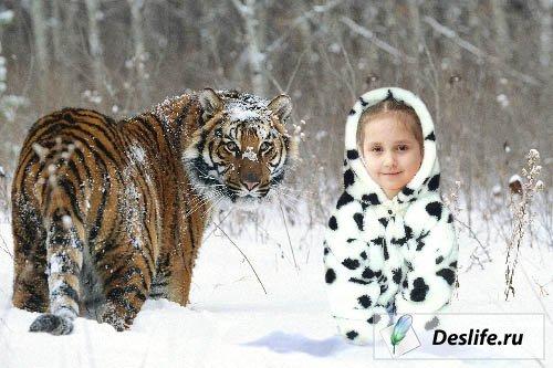 В снегу - Костюм PSD