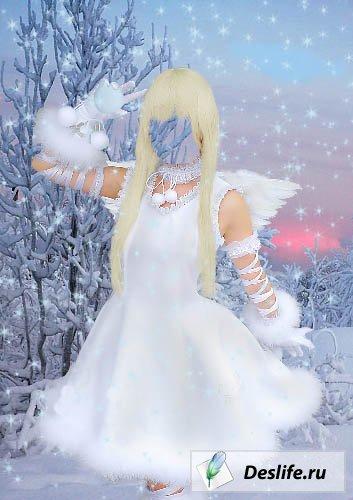 Зимний ангелочек - Костюм PSD