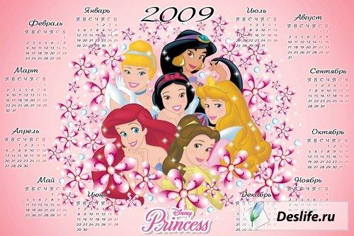 Принцессы - Детский календарь 2009