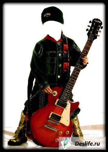 Мальчик с гитарой - Костюм PSD