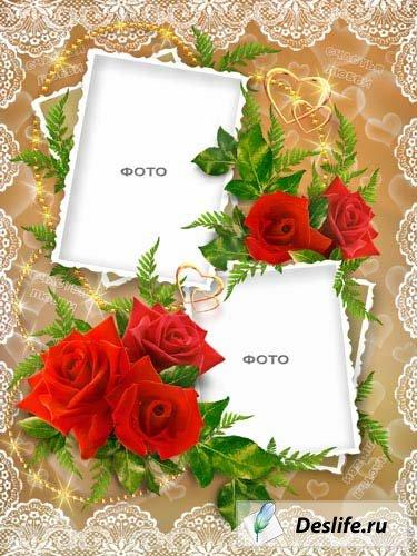 Рамочка с розами
