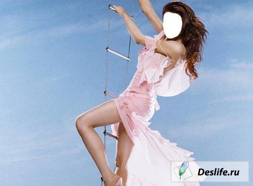 Девушка Агент 007 - Костюм для Photoshop