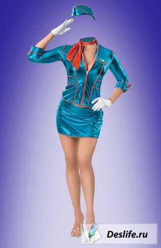 4 костюма Стюардессы - Костюмы для Photoshop