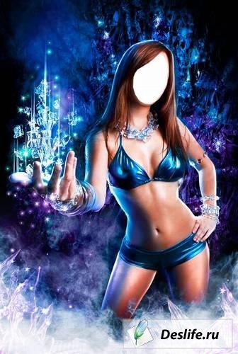 Ice Girl - Костюм для Photoshop