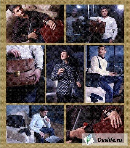 Мужчины и портфели - КлипАрт