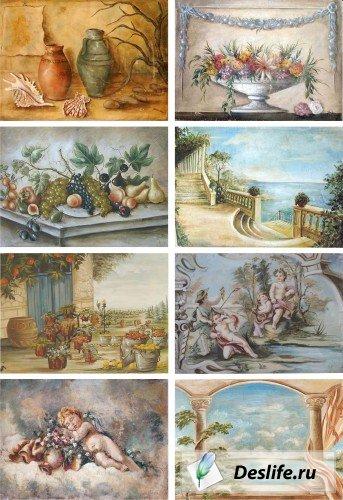 Старинные фрески разных авторов