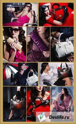Девушки и сумки - КлипАрт
