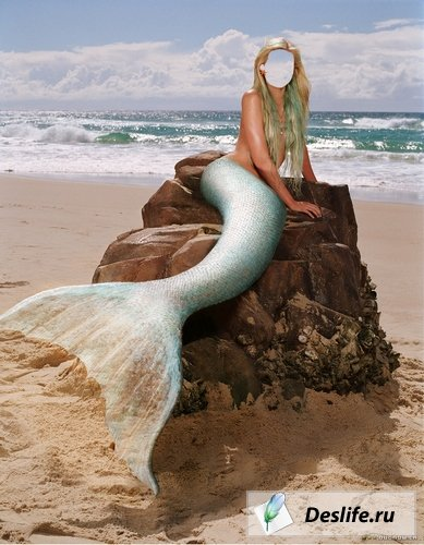 Русалка на пляже - Костюм для Photoshop