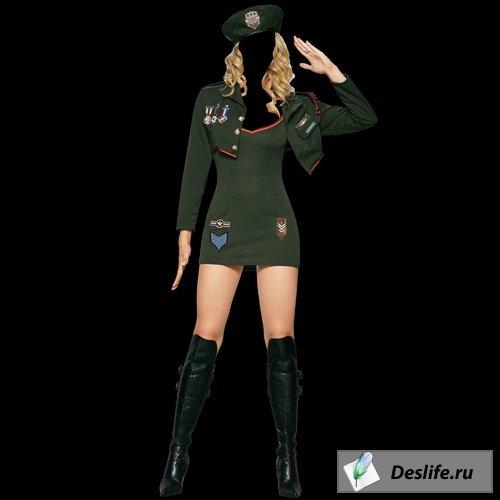 Военнообязанная девушка - Костюм для Photoshop