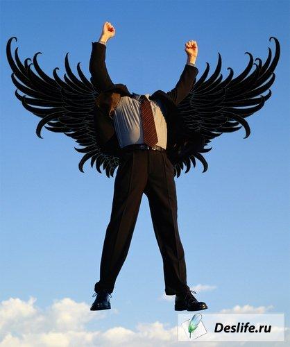 С Орлиными крыльями - Костюм для Photoshop