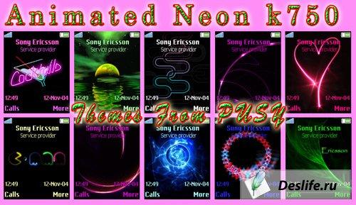 Animated Neon k750 - Анимированные темы для Sony Ericsson [176x220]