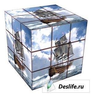 Кубик Рубика из фото для фотомонтажа