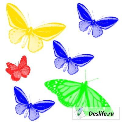 Кисти в виде бабочек