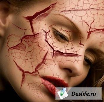 Кисти в виде порезов и трещин