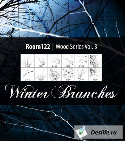 Зимние ветви - Кисти для фотошоп