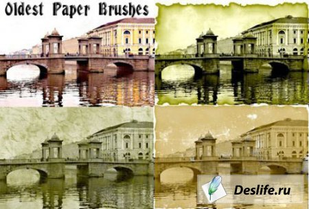 Кисти для Photoshop - Oldest Paper
