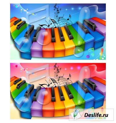 Музыкальный шаблон в PSD