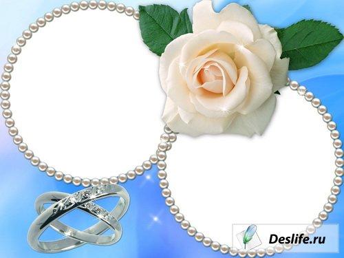 Свадебная с белой розой в PNG