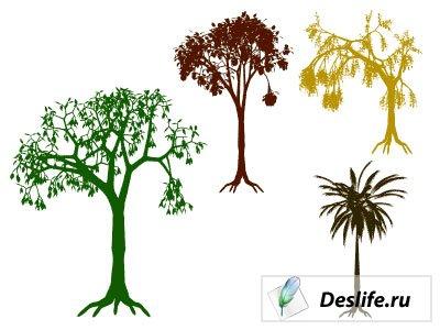 Деревья - Фигуры для фотошоп