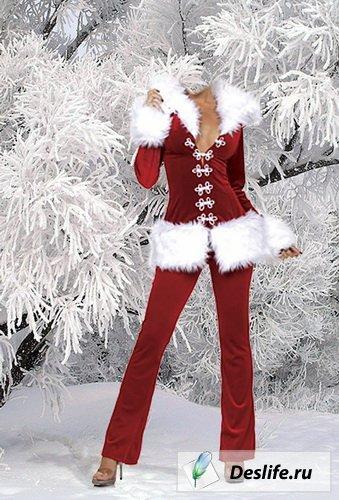 Снегурочка в лесу - Костюм для фотошоп