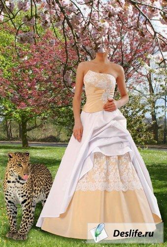 Невеста в саду - Костюм для фотошоп