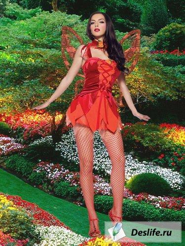 Цветочная фея - Костюм для фотошоп