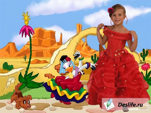 Маленькая Испаночка - Костюм для фотошоп