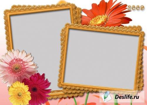 Рамочка для фото с цветами
