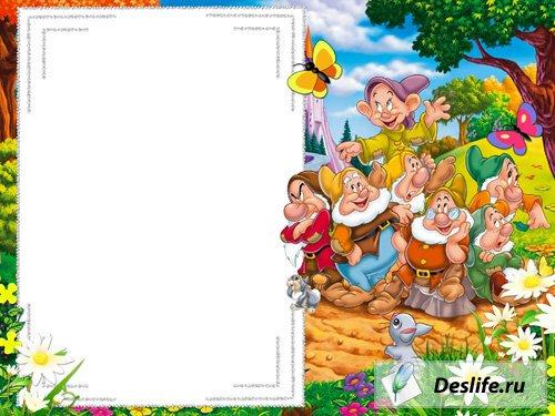 Семь гномов - Детская рамка для фото